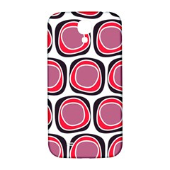 Wheel Stones Pink Pattern Abstract Background Samsung Galaxy S4 I9500/i9505  Hardshell Back Case