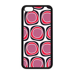 Wheel Stones Pink Pattern Abstract Background Apple Iphone 5c Seamless Case (black)
