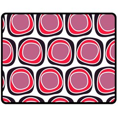 Wheel Stones Pink Pattern Abstract Background Double Sided Fleece Blanket (Medium)