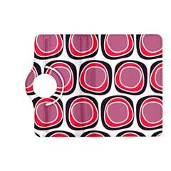 Wheel Stones Pink Pattern Abstract Background Kindle Fire Hd (2013) Flip 360 Case