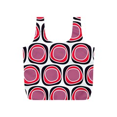 Wheel Stones Pink Pattern Abstract Background Full Print Recycle Bags (s)