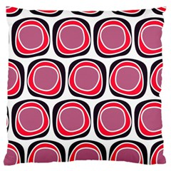 Wheel Stones Pink Pattern Abstract Background Large Flano Cushion Case (one Side)