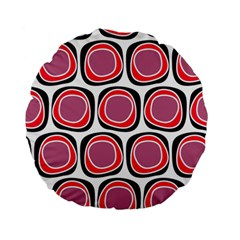 Wheel Stones Pink Pattern Abstract Background Standard 15  Premium Flano Round Cushions