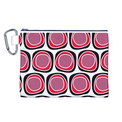 Wheel Stones Pink Pattern Abstract Background Canvas Cosmetic Bag (L)