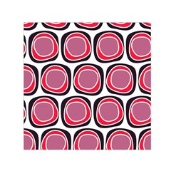 Wheel Stones Pink Pattern Abstract Background Small Satin Scarf (Square)