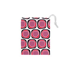 Wheel Stones Pink Pattern Abstract Background Drawstring Pouches (XS)