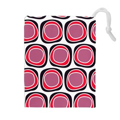 Wheel Stones Pink Pattern Abstract Background Drawstring Pouches (extra Large)
