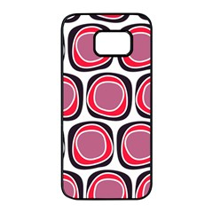 Wheel Stones Pink Pattern Abstract Background Samsung Galaxy S7 Edge Black Seamless Case