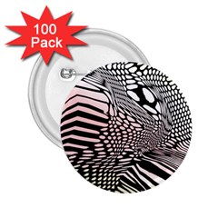 Abstract Fauna Pattern When Zebra And Giraffe Melt Together 2 25  Buttons (100 Pack)