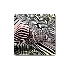 Abstract Fauna Pattern When Zebra And Giraffe Melt Together Square Magnet