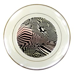 Abstract Fauna Pattern When Zebra And Giraffe Melt Together Porcelain Plates