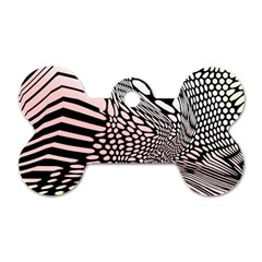 Abstract Fauna Pattern When Zebra And Giraffe Melt Together Dog Tag Bone (two Sides)