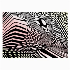 Abstract Fauna Pattern When Zebra And Giraffe Melt Together Large Glasses Cloth (2 Side)