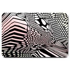 Abstract Fauna Pattern When Zebra And Giraffe Melt Together Large Doormat