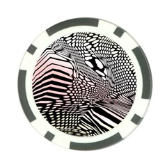 Abstract Fauna Pattern When Zebra And Giraffe Melt Together Poker Chip Card Guard
