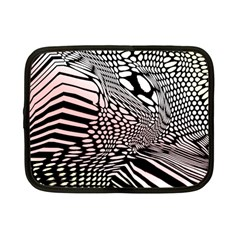 Abstract Fauna Pattern When Zebra And Giraffe Melt Together Netbook Case (small)