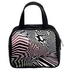 Abstract Fauna Pattern When Zebra And Giraffe Melt Together Classic Handbags (2 Sides)