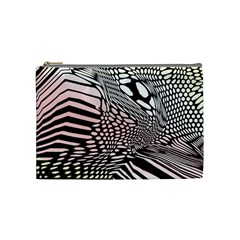 Abstract Fauna Pattern When Zebra And Giraffe Melt Together Cosmetic Bag (Medium)