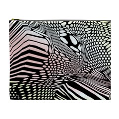 Abstract Fauna Pattern When Zebra And Giraffe Melt Together Cosmetic Bag (xl)