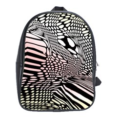 Abstract Fauna Pattern When Zebra And Giraffe Melt Together School Bags(Large)
