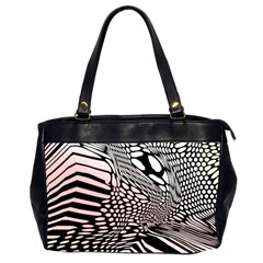 Abstract Fauna Pattern When Zebra And Giraffe Melt Together Office Handbags (2 Sides)