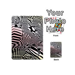 Abstract Fauna Pattern When Zebra And Giraffe Melt Together Playing Cards 54 (Mini)