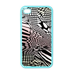 Abstract Fauna Pattern When Zebra And Giraffe Melt Together Apple Iphone 4 Case (color)