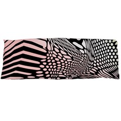 Abstract Fauna Pattern When Zebra And Giraffe Melt Together Body Pillow Case Dakimakura (Two Sides)