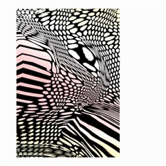 Abstract Fauna Pattern When Zebra And Giraffe Melt Together Small Garden Flag (two Sides)