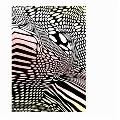 Abstract Fauna Pattern When Zebra And Giraffe Melt Together Large Garden Flag (Two Sides)