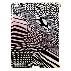 Abstract Fauna Pattern When Zebra And Giraffe Melt Together Apple iPad 3/4 Hardshell Case (Compatible with Smart Cover)