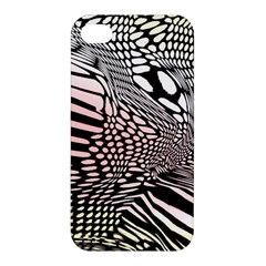 Abstract Fauna Pattern When Zebra And Giraffe Melt Together Apple Iphone 4/4s Premium Hardshell Case