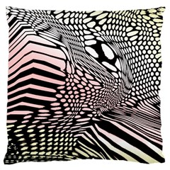 Abstract Fauna Pattern When Zebra And Giraffe Melt Together Large Cushion Case (One Side)