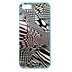 Abstract Fauna Pattern When Zebra And Giraffe Melt Together Apple Seamless Iphone 5 Case (color)