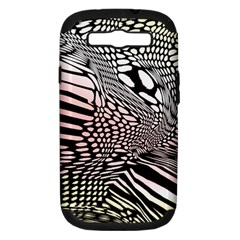 Abstract Fauna Pattern When Zebra And Giraffe Melt Together Samsung Galaxy S Iii Hardshell Case (pc+silicone)