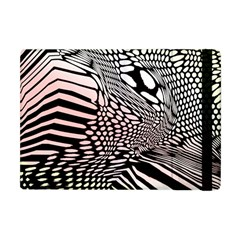 Abstract Fauna Pattern When Zebra And Giraffe Melt Together Apple iPad Mini Flip Case