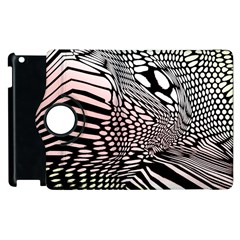 Abstract Fauna Pattern When Zebra And Giraffe Melt Together Apple iPad 3/4 Flip 360 Case