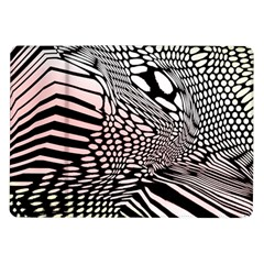 Abstract Fauna Pattern When Zebra And Giraffe Melt Together Samsung Galaxy Tab 10 1  P7500 Flip Case
