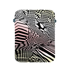 Abstract Fauna Pattern When Zebra And Giraffe Melt Together Apple iPad 2/3/4 Protective Soft Cases