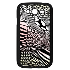 Abstract Fauna Pattern When Zebra And Giraffe Melt Together Samsung Galaxy Grand DUOS I9082 Case (Black)