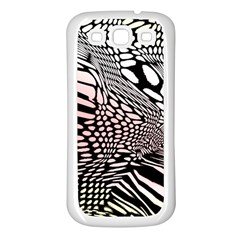 Abstract Fauna Pattern When Zebra And Giraffe Melt Together Samsung Galaxy S3 Back Case (White)