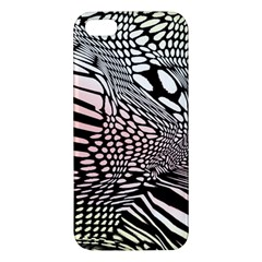 Abstract Fauna Pattern When Zebra And Giraffe Melt Together iPhone 5S/ SE Premium Hardshell Case