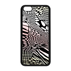 Abstract Fauna Pattern When Zebra And Giraffe Melt Together Apple Iphone 5c Seamless Case (black)
