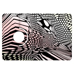 Abstract Fauna Pattern When Zebra And Giraffe Melt Together Kindle Fire Hdx Flip 360 Case