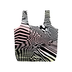 Abstract Fauna Pattern When Zebra And Giraffe Melt Together Full Print Recycle Bags (s)