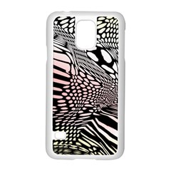 Abstract Fauna Pattern When Zebra And Giraffe Melt Together Samsung Galaxy S5 Case (White)