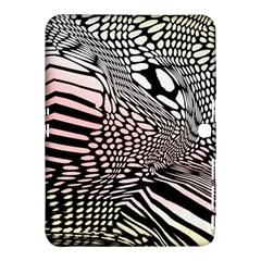Abstract Fauna Pattern When Zebra And Giraffe Melt Together Samsung Galaxy Tab 4 (10.1 ) Hardshell Case
