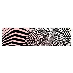 Abstract Fauna Pattern When Zebra And Giraffe Melt Together Satin Scarf (oblong)
