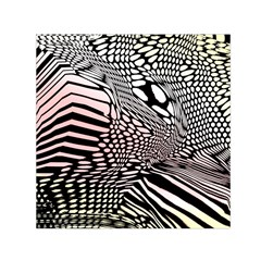 Abstract Fauna Pattern When Zebra And Giraffe Melt Together Small Satin Scarf (square)