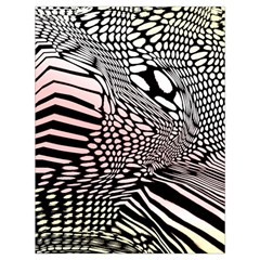 Abstract Fauna Pattern When Zebra And Giraffe Melt Together Drawstring Bag (Large)